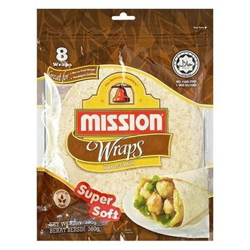 Picture of Mission Tortilla Wraps Wholemeal Grain