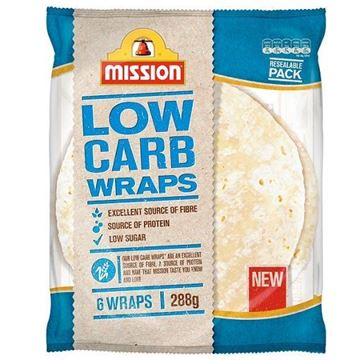 Picture of Mission Tortilla Wraps Reduced Carb