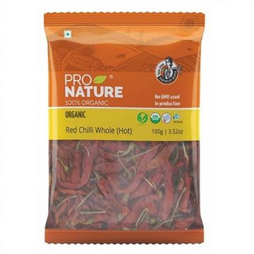 Picture of Pro Nature Long Red Chilli Whole Hot (Certified ORGANIC)