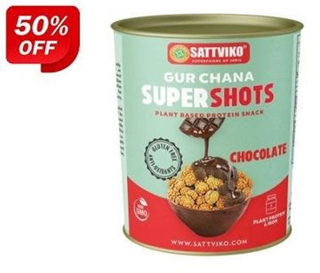 Picture of Sattviko Gur Chana Supershots Chocolate