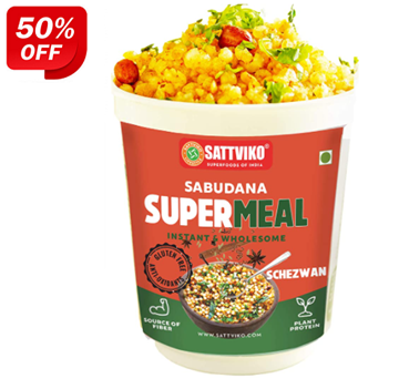 Picture of Sattviko Sabudana Supermeal Cup Schezwan (Ready to Eat)