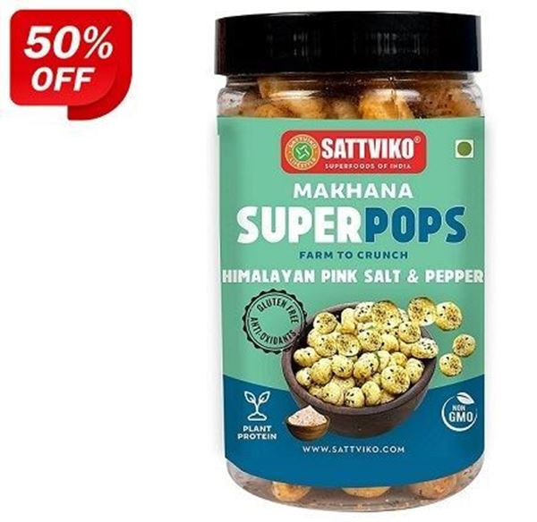 Picture of Sattviko Makhana Superpops Himalayan Pink Salt & Pepper