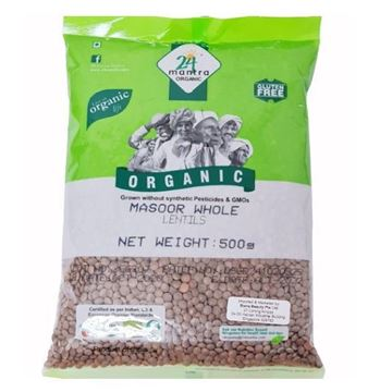 Picture of 24 Mantra Masoor Lentil Whole  (Certified ORGANIC)