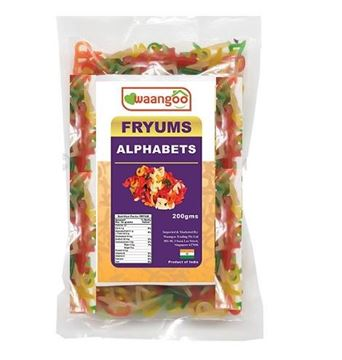Picture of Waangoo Fryums Alphabets In Colours (Papad)
