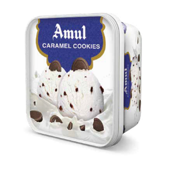 Picture of Amul Ice Cream Caramel Cookies Tub  (Chilled)