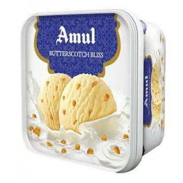 Picture of Amul Ice Cream  Butter scotch Bliss Tub  (Chilled)