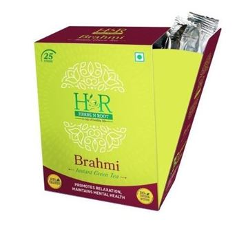 Picture of Herbs N Root 100% Natural Brahmi Instant Green Tea Sticks