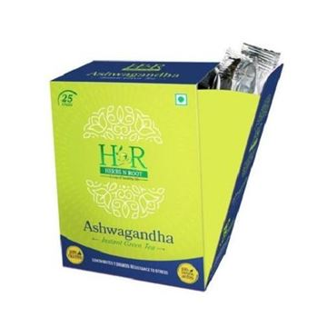 Picture of Herbs N Root 100% Natural Ashwagantha Instant Green Tea Sticks