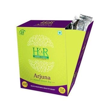 Picture of Herbs N Root 100% Natural Arjuna Instant Green Tea Sticks
