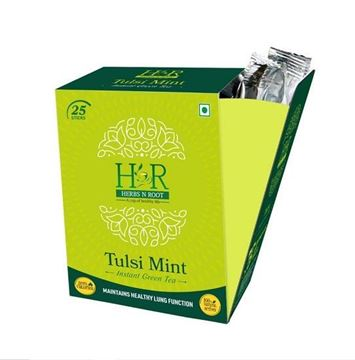 Picture of Herbs N Root 100% Natural Tulsi Mint Instant Green Tea Sticks