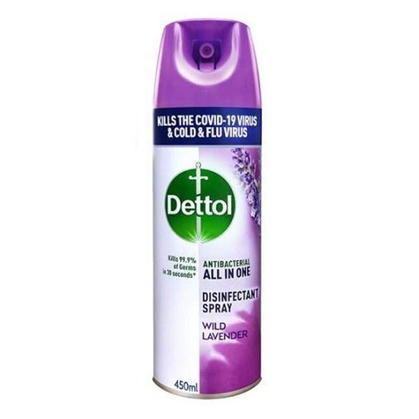 Picture of Dettol Anti Bacterial All In One Disinfectant Spray Wild Lavender