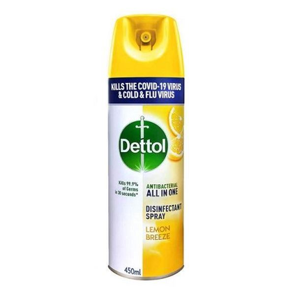Picture of Dettol Anti Bacterial All In One Disinfectant Spray Lemon Breeze