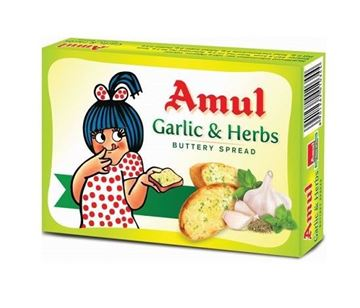 Picture of AMUL Garlic & Herbs Buttery Spread  (Chilled)